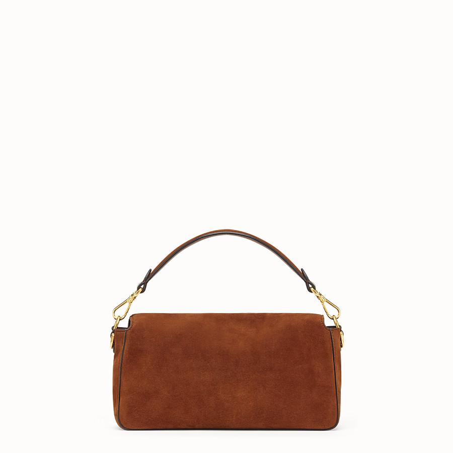 FENDI BAGUETTE - Brown suede bag - view 4 detail