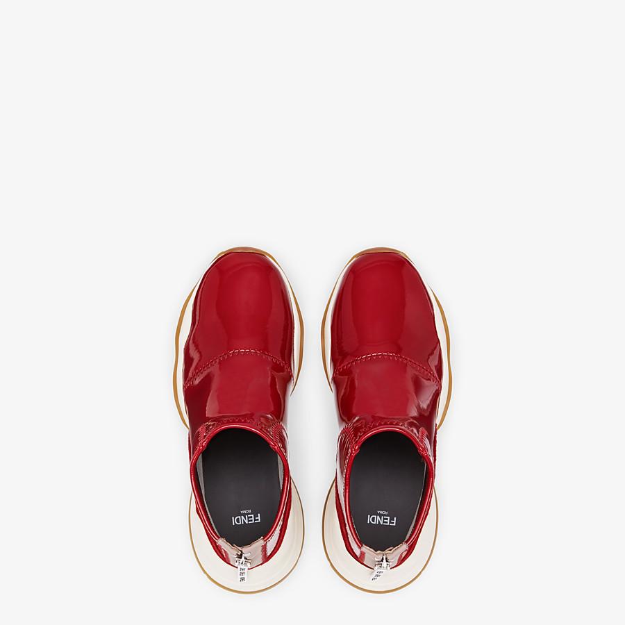 FENDI SNEAKER - Sneaker in glossy neoprene rosso - vista 4 dettaglio
