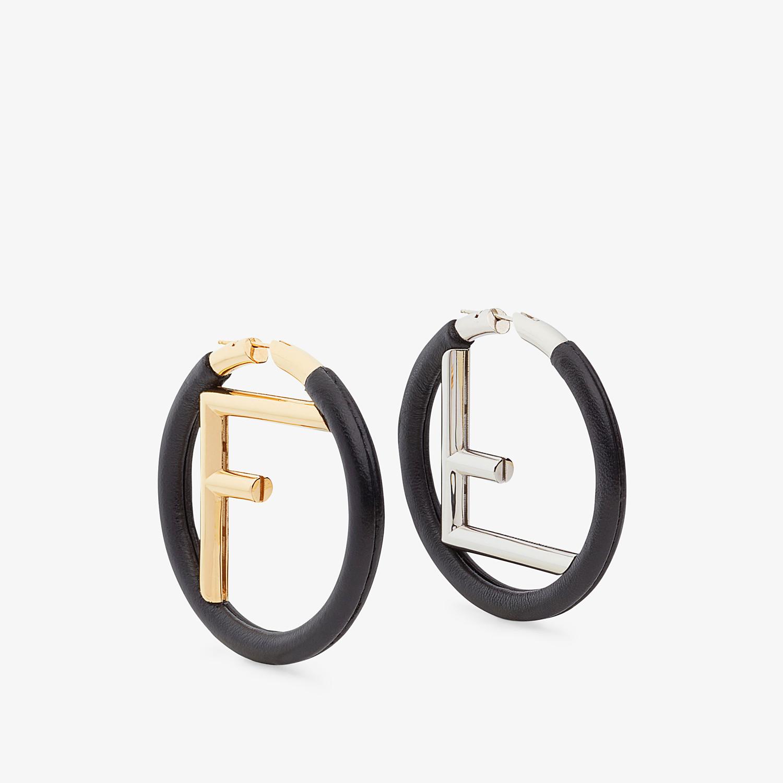 FENDI F IS FENDI EARRINGS - Black leather earrings - view 1 detail