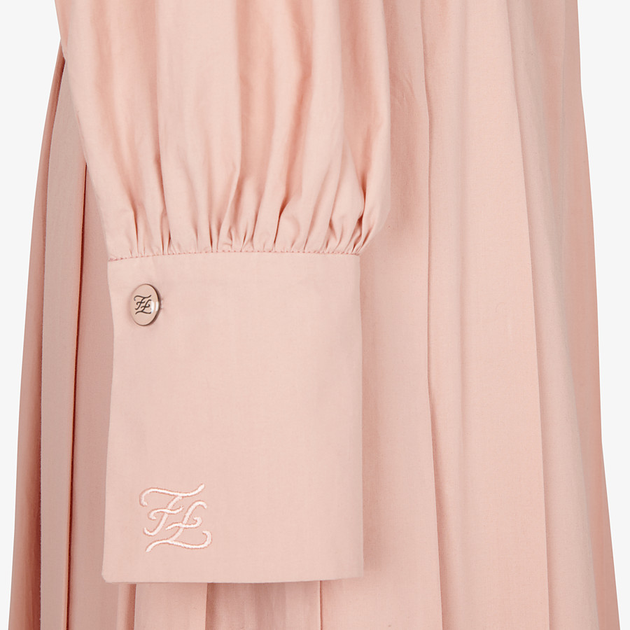 FENDI DRESS - Pink cotton taffeta dress - view 3 detail