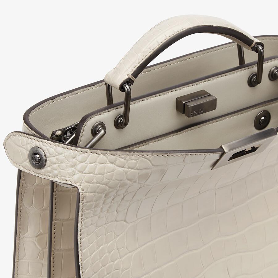 FENDI PEEKABOO ISEEU MINI - Gray alligator bag - view 6 detail