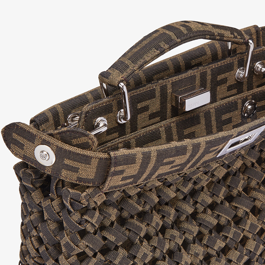 FENDI PEEKABOO ISEEU MINI - Brown fabric bag - view 6 detail