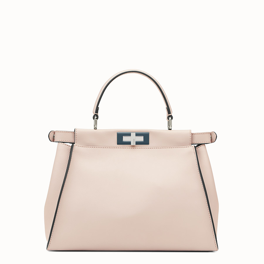 FENDI PEEKABOO REGULAR - Pink leather bag - view 3 detail