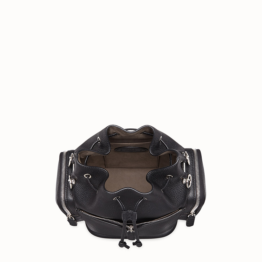 FENDI MON TRESOR - Black leather bag - view 4 detail
