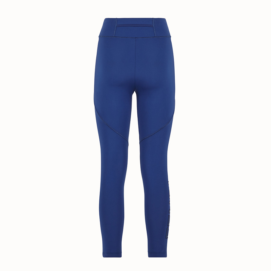 FENDI LEGGINGS - Blue tech fabric pants - view 2 detail