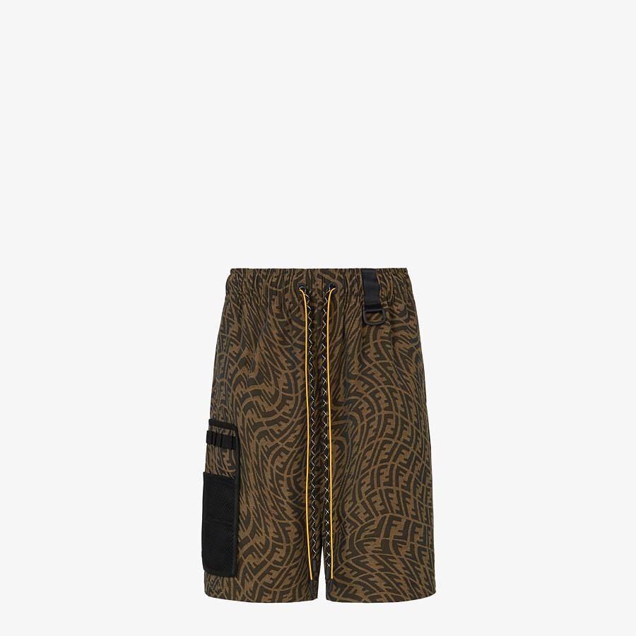 FENDI PANTS - Brown canvas pants - view 4 detail