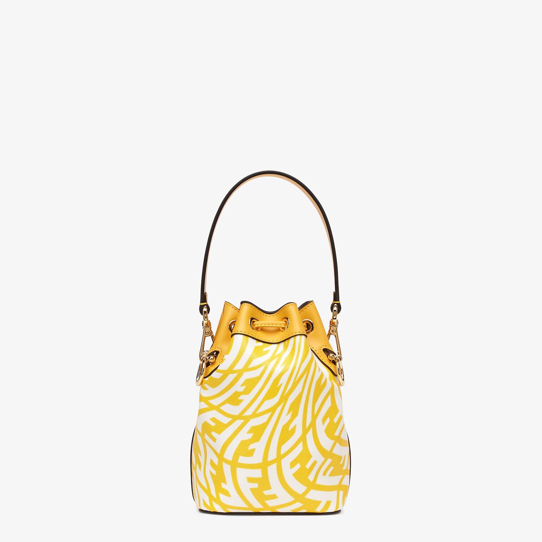 FENDI MON TRESOR - Yellow glazed canvas mini-bag - view 4 detail