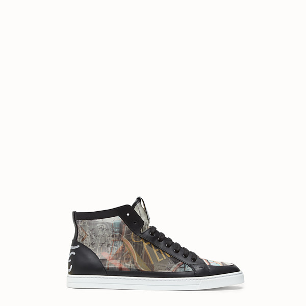 FENDI SNEAKERS - High top in multicolour mesh - view 1 small thumbnail