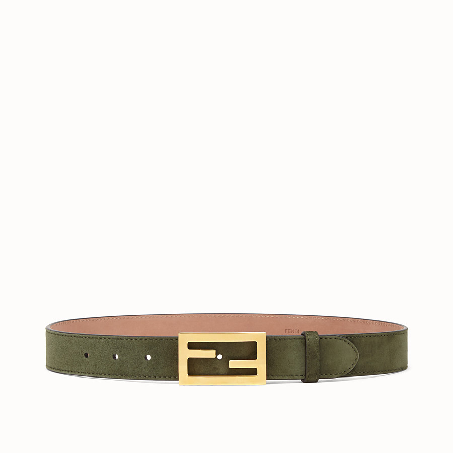 FENDI BELT - Green suede leather belt - view 1 detail