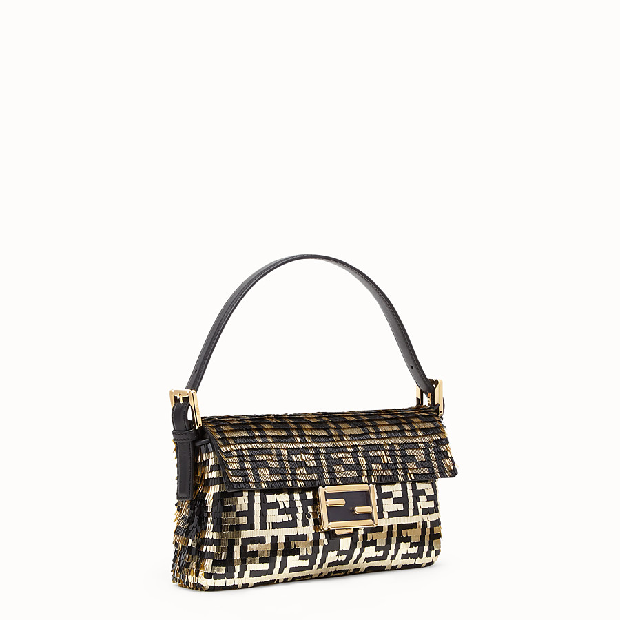 FENDI BAGUETTE - Bag with black and gold sequins - view 2 detail