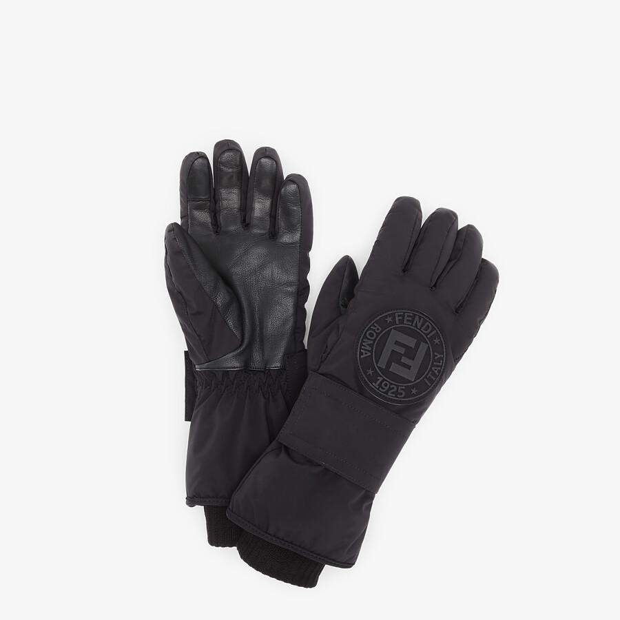 FENDI SKI GLOVES - Ski gloves in black tech nylon - view 1 detail