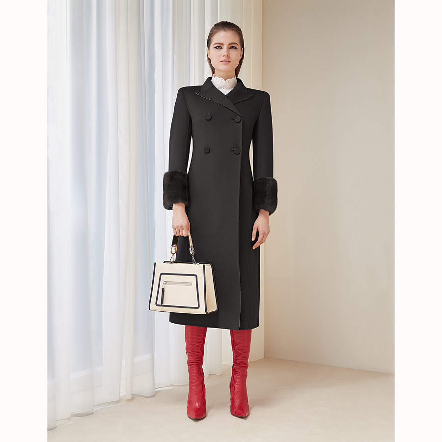 FENDI OVERCOAT - Black wool overcoat - view 4 detail