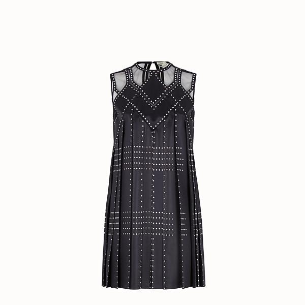 FENDI DRESS - Blue satin dress - view 1 small thumbnail