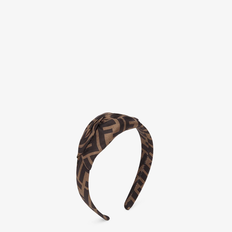 FENDI HAIR BAND - Brown twill hair band - view 1 detail