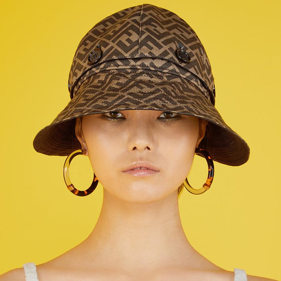 FENDI HAT - Brown cotton hat - view 3 detail