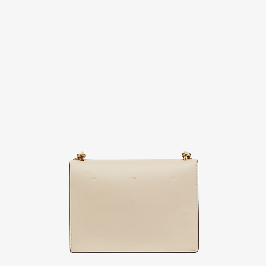 FENDI KAN U - Beige leather bag - view 4 detail
