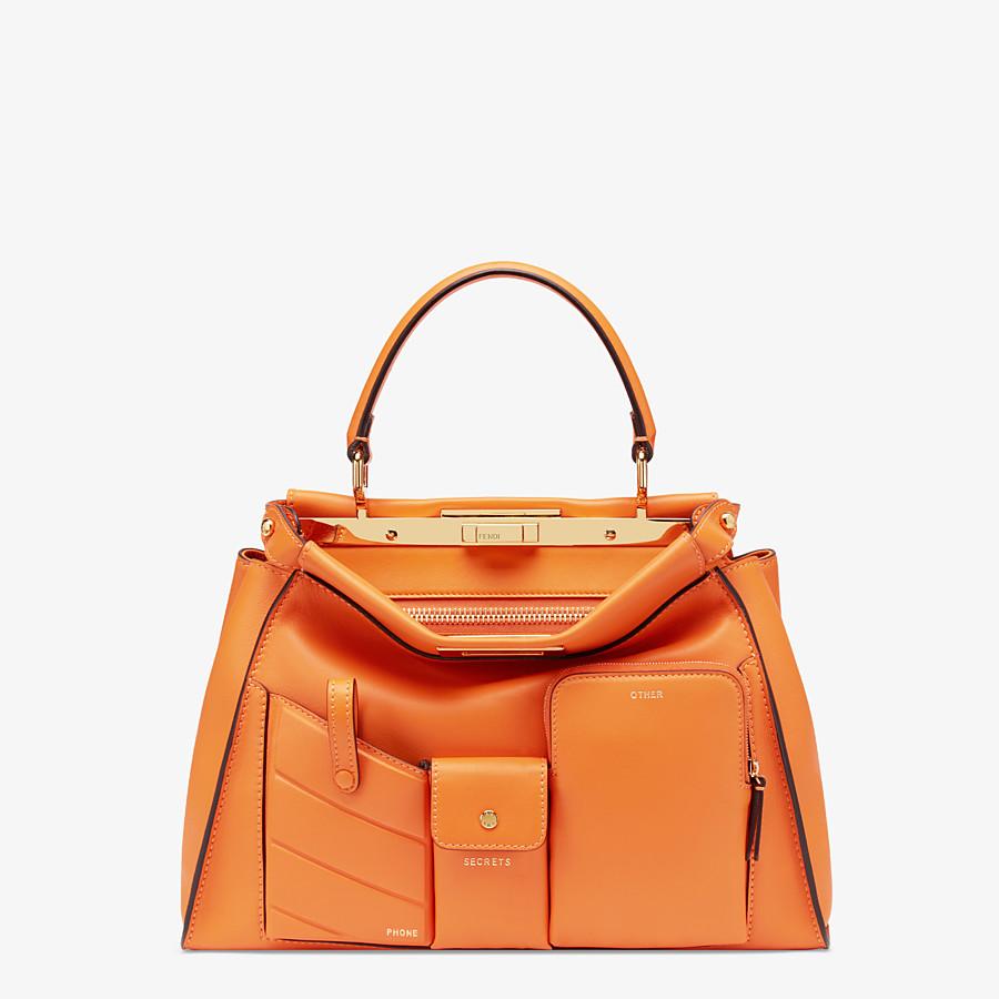 FENDI PEEKABOO ICONIC MEDIUM - Orange leather bag - view 1 detail
