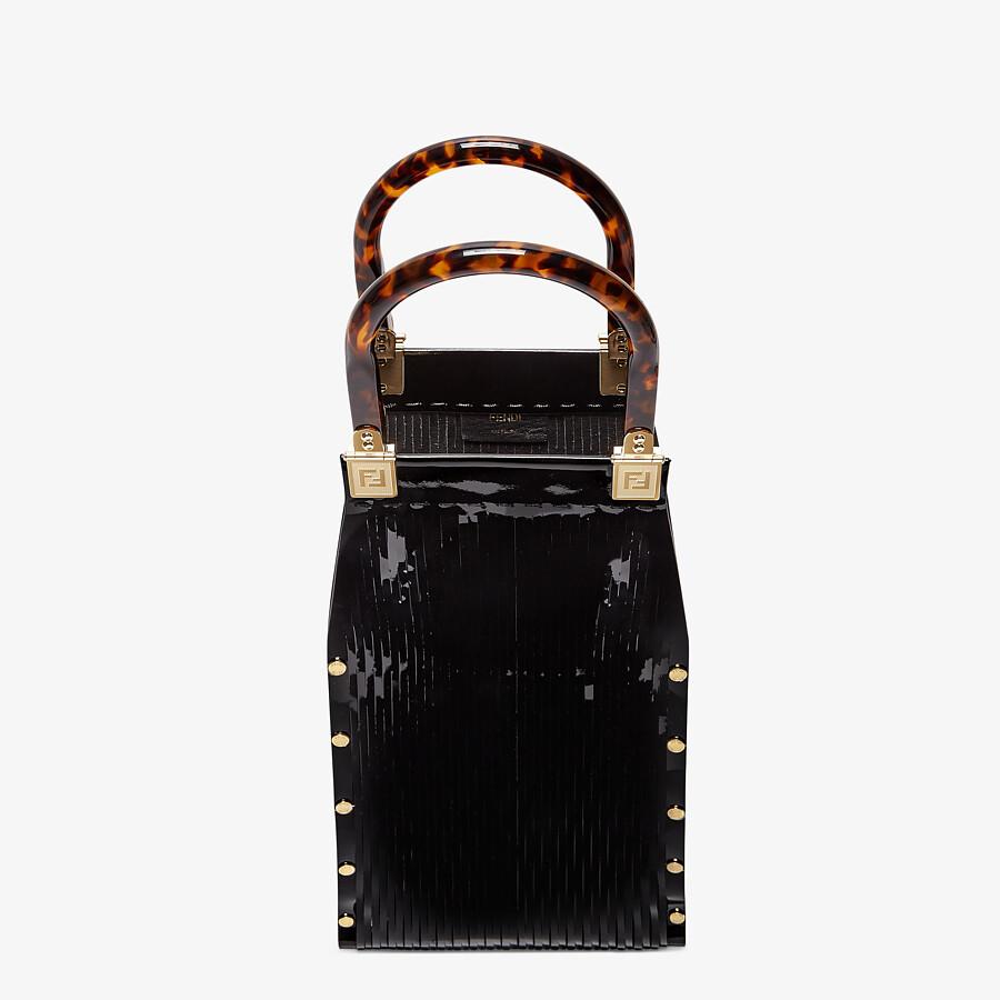 FENDI FENDI SUNNY - Black patent leather shopper - view 4 detail