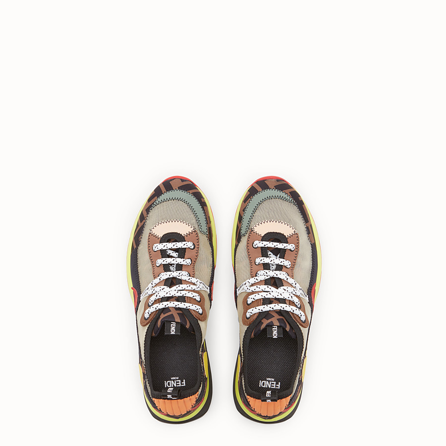 FENDI SNEAKERS - Multicolour technical mesh sneaker - view 4 detail