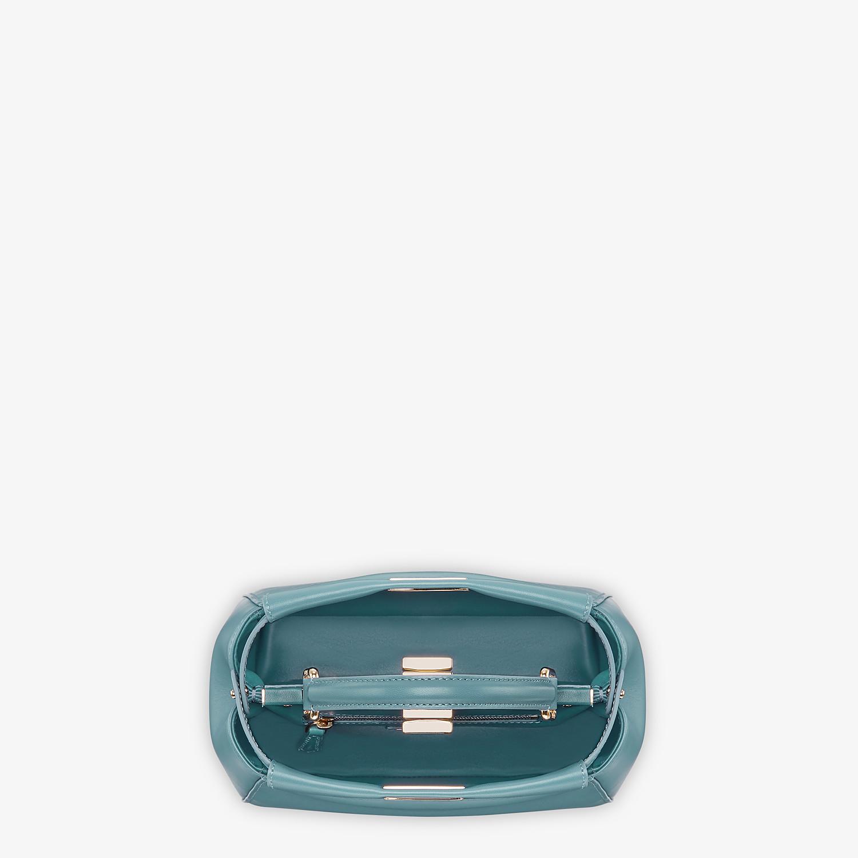 FENDI PEEKABOO ICONIC MINI - Pale blue leather bag - view 4 detail