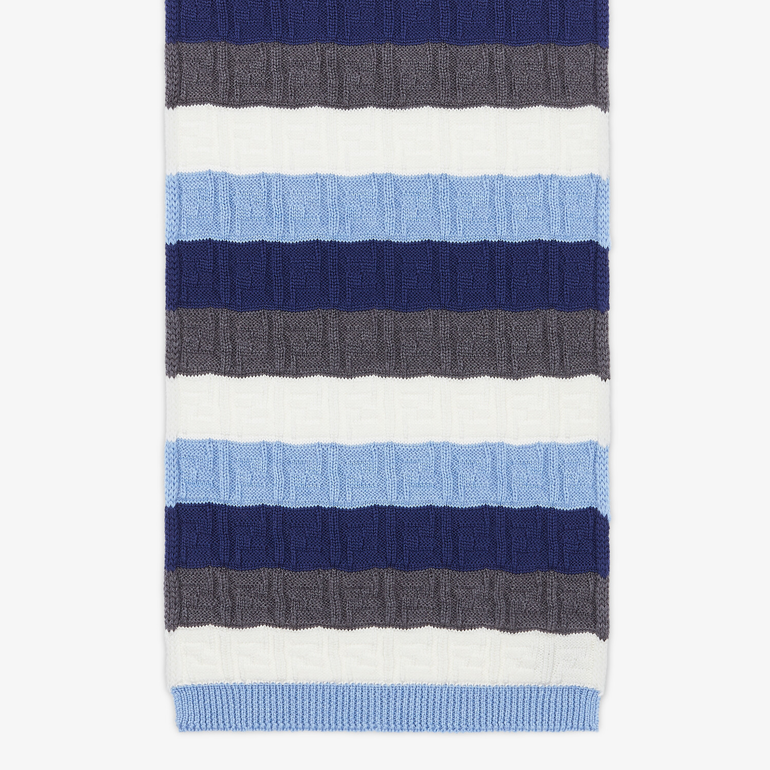 FENDI SCARF - Multicolor wool scarf - view 1 detail