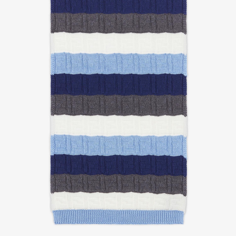 FENDI SCARF - Multicolor wool scarf - view 1 detail