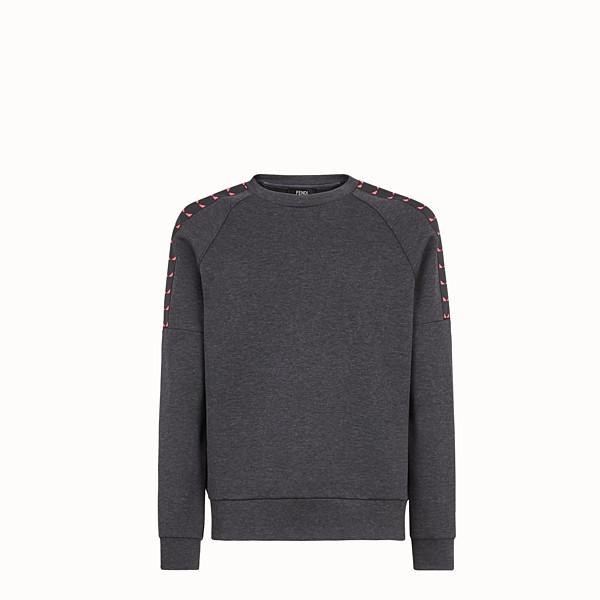 FENDI 運動衫 - 灰色棉質針織運動衫 - view 1 小型縮圖