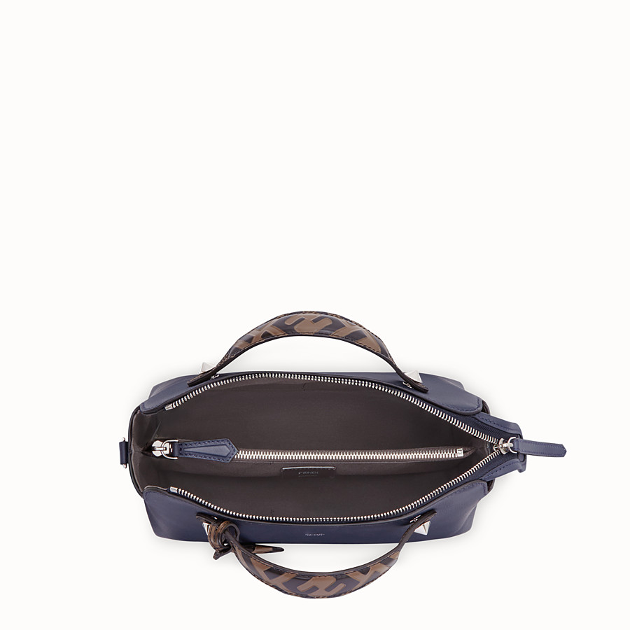 FENDI BY THE WAY MEDIUM - Blue leather Boston bag - view 5 detail