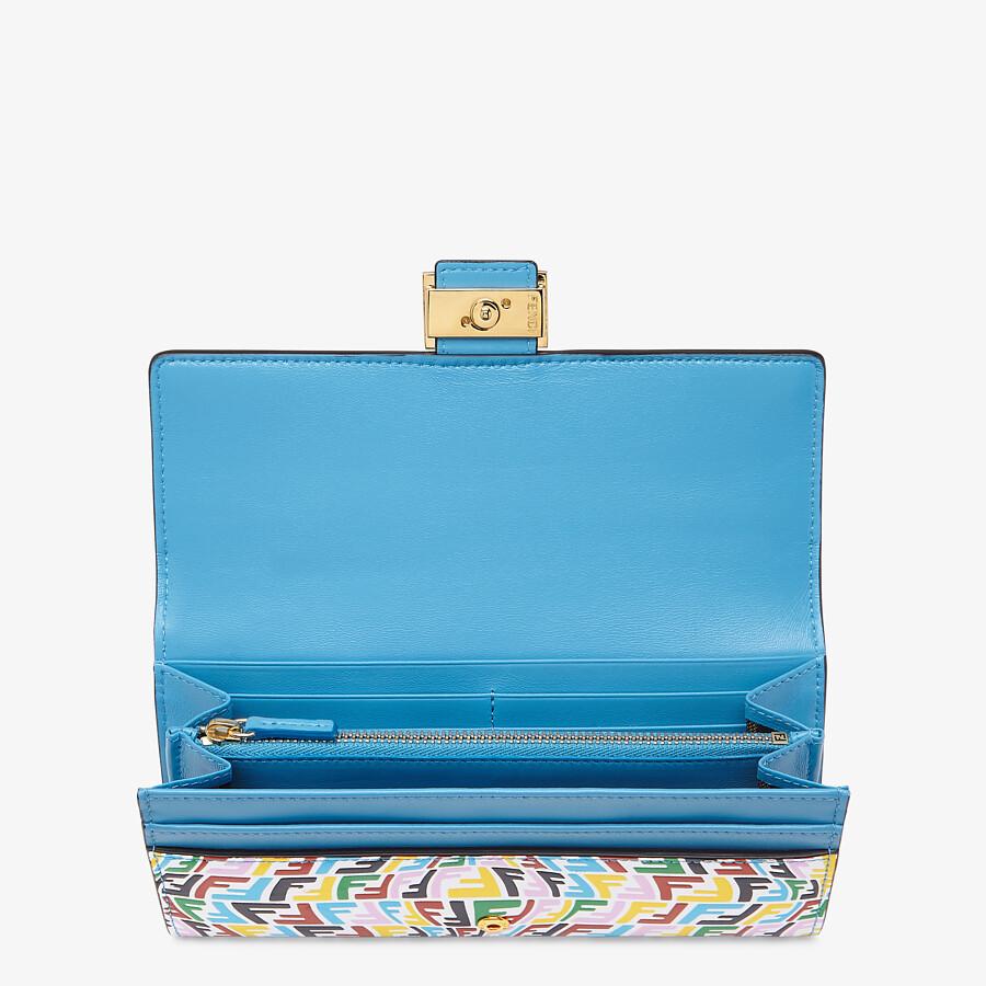 FENDI CONTINENTAL - Multicolour leather wallet - view 3 detail