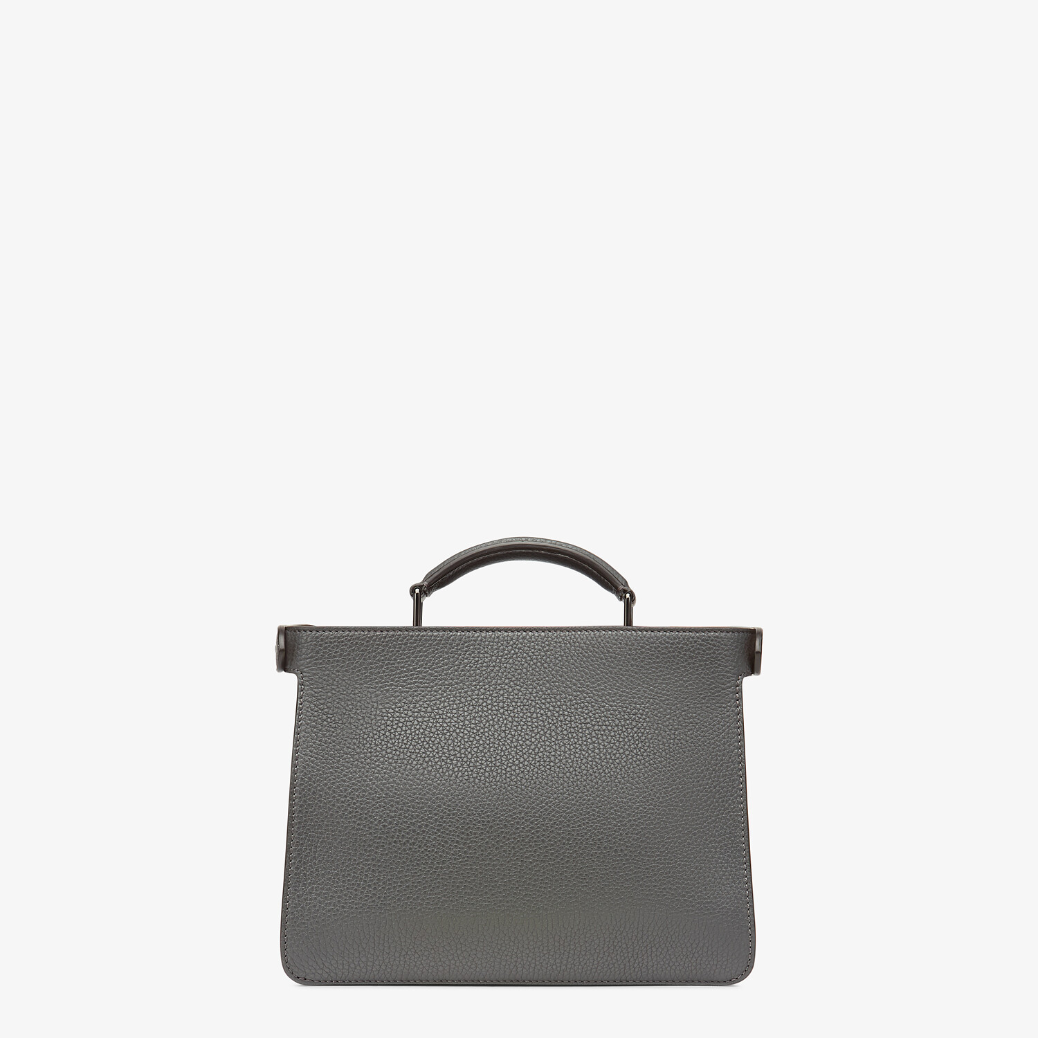 FENDI PEEKABOO ISEEU MINI - Gray leather bag - view 4 detail