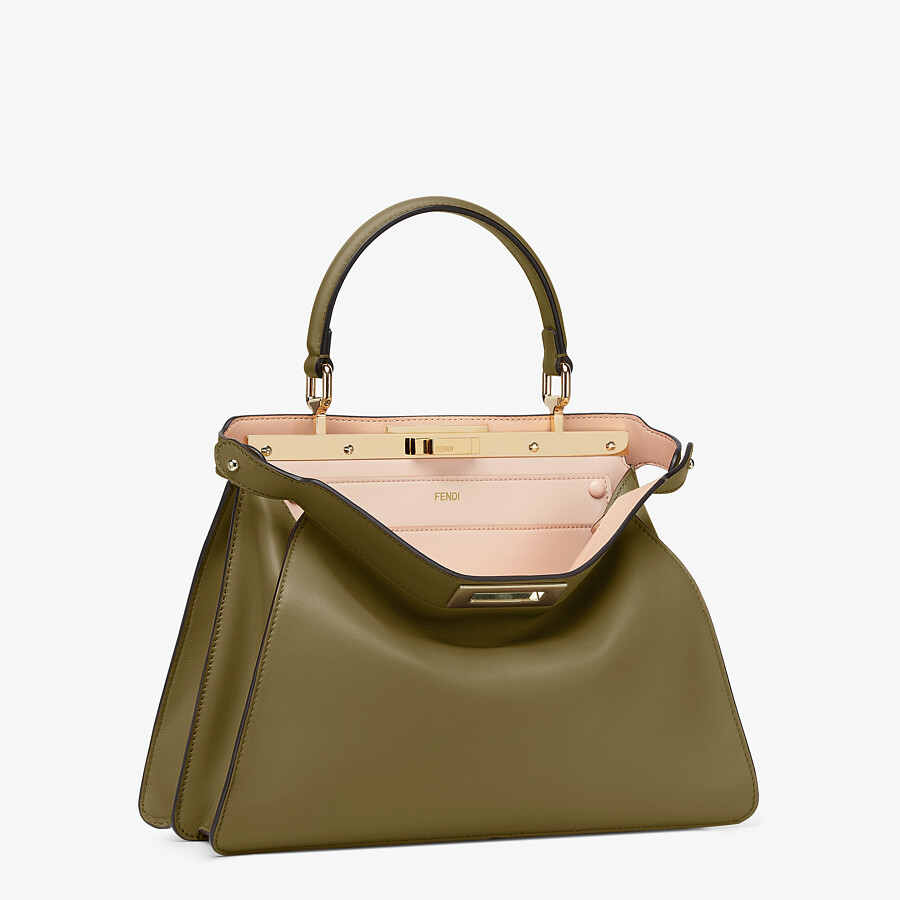 FENDI PEEKABOO ISEEU MEDIUM - Green leather bag - view 5 detail