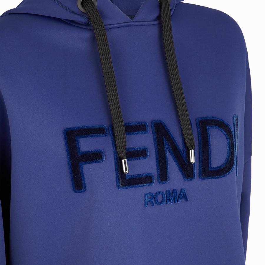 FENDI スウェットシャツ - ブルーコットン スウェットシャツ - view 3 detail