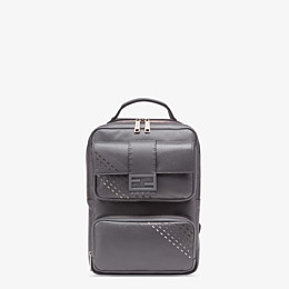 FENDI BACKPACK - Grey calf leather backpack - view 1 thumbnail