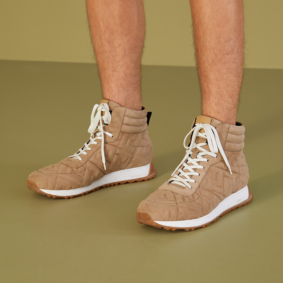 FENDI SNEAKER - High-Top-Sneakers aus Wildleder in Beige - view 5 detail