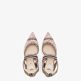 FENDI SLINGBACKS - Multicolor cotton Colibrì - view 4 thumbnail