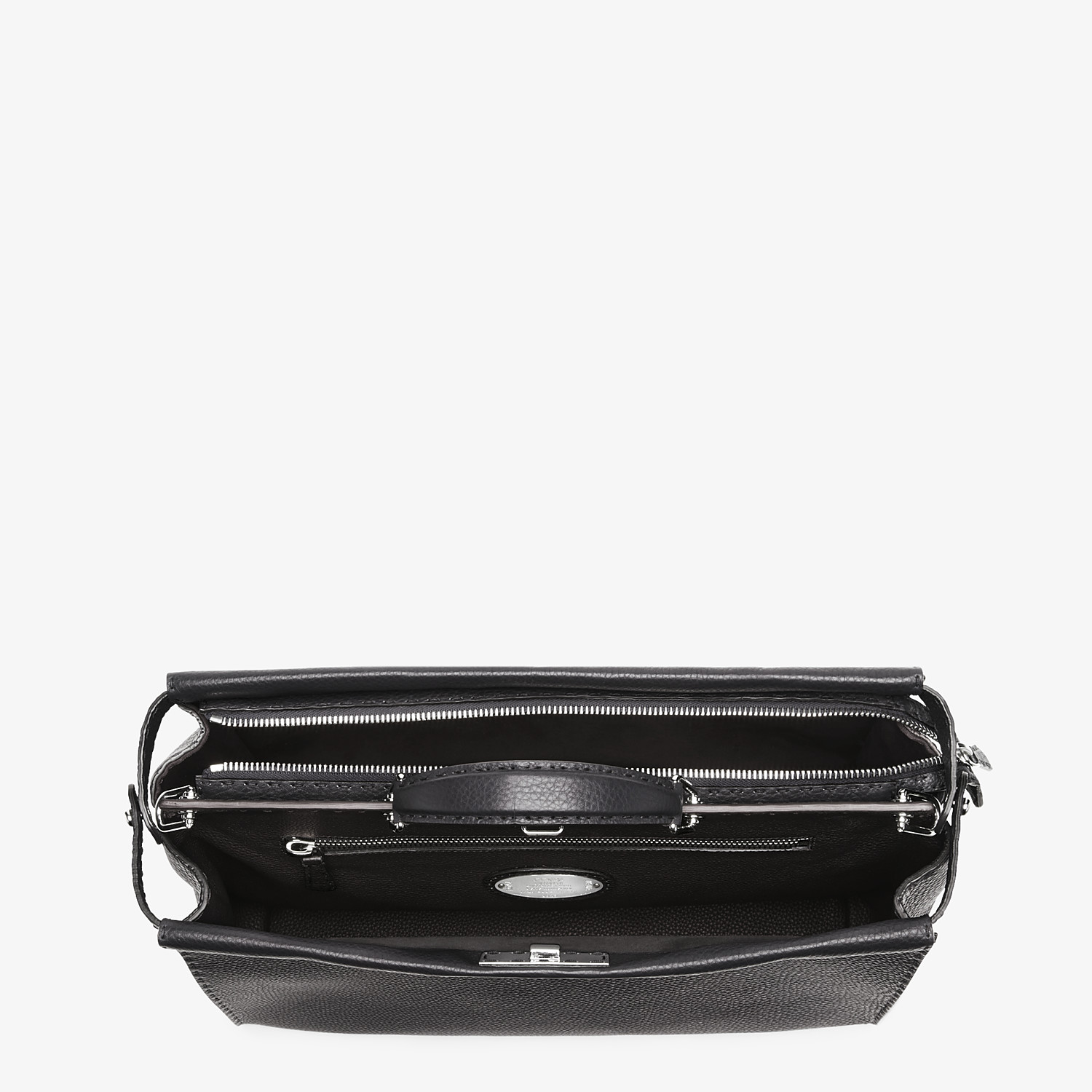 FENDI PEEKABOO ICONIC MEDIUM - Black Selleria bag - view 4 detail