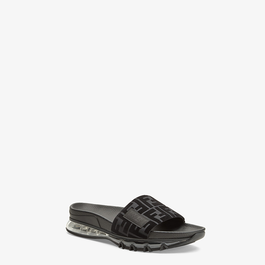 FENDI SANDALS - Fendi slides for Jackson Wang in PU and Lycra® - view 2 detail