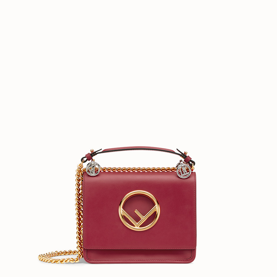 FENDI KAN I F SMALL - Red leather mini-bag - view 1 detail