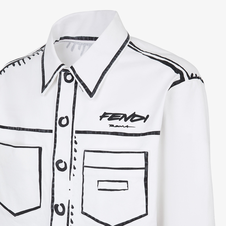 FENDI JACKET - Fendi Roma Joshua Vides denim jacket - view 3 detail