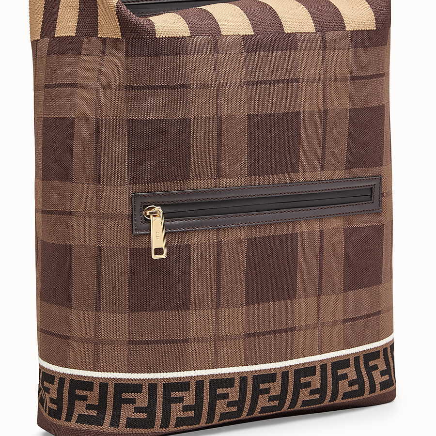 FENDI BACKPACK - Tartan tech knit backpack - view 4 detail