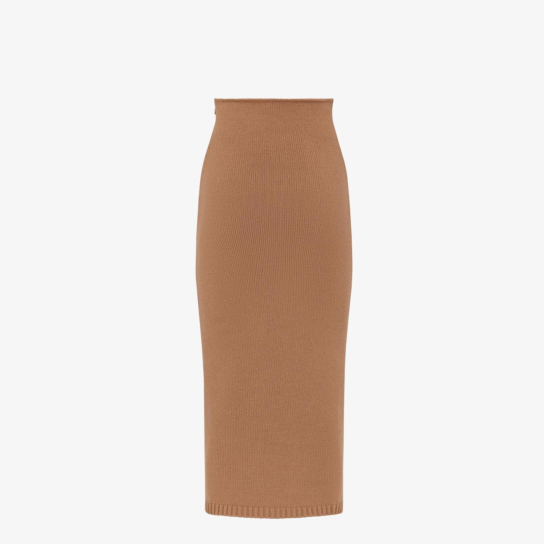 FENDI SKIRT - Brown cashmere skirt - view 2 detail
