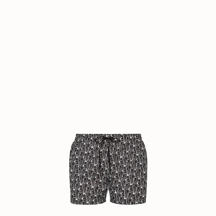 FENDI SWIM SHORTS - Fendi Roma Amor tech fabric shorts - view 1 detail