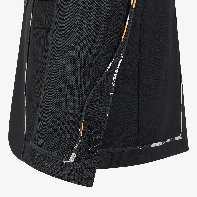 FENDI JACKET - Black twill blazer - view 3 detail