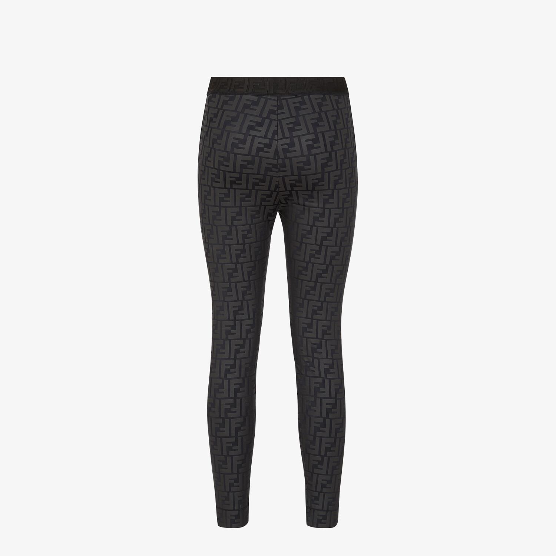 FENDI LEGGINGS - Black tech fabric leggings - view 2 detail