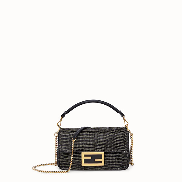FENDI BAGUETTE MINI - Black leather bag - view 1 small thumbnail