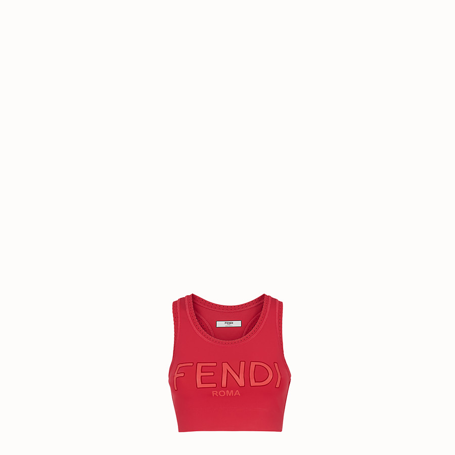 FENDI TOP - Top aus Stoff in Rot - view 1 detail