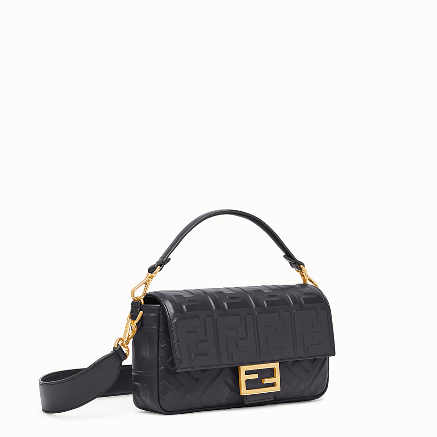 FENDI BAGUETTE - Black leather bag - view 2 detail