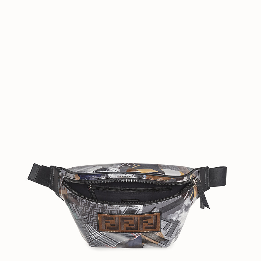 FENDI BELT BAG - Multicolour canvas belt bag - view 4 detail
