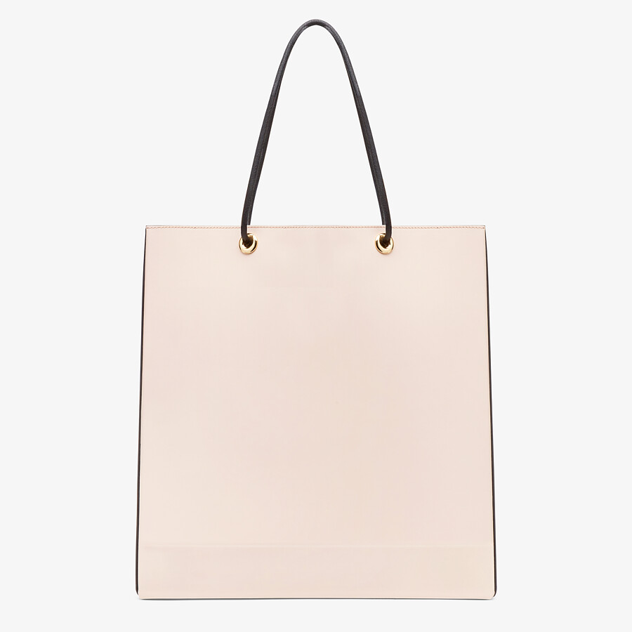 FENDI FENDI PACK MEDIUM SHOPPING BAG - Pink leather bag - view 3 detail