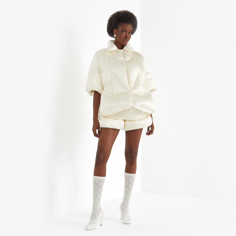 FENDI SHIRT - White satin shirt - view 5 detail